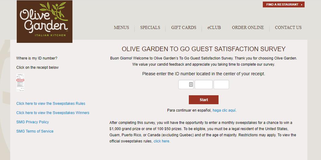 Olive Garden Survey - Officially