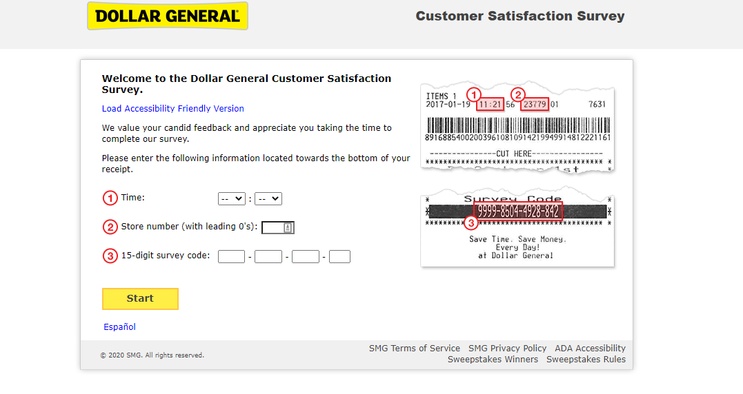welcome to official dollar general customer satisfication survey