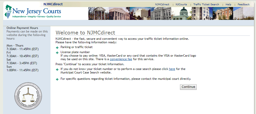 NJMCDirect Pay Traffic Tickets Online – www.NJMCDirect.com